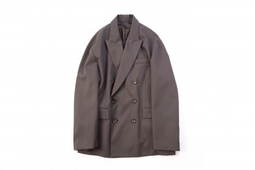 <img class='new_mark_img1' src='https://img.shop-pro.jp/img/new/icons47.gif' style='border:none;display:inline;margin:0px;padding:0px;width:auto;' />stein / OVERSIZED DOUBLE BREASTED JACKET(GR. BROWN)