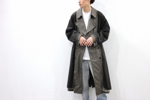 <img class='new_mark_img1' src='https://img.shop-pro.jp/img/new/icons2.gif' style='border:none;display:inline;margin:0px;padding:0px;width:auto;' />YOKE / REVERSIBLE TRENCH COAT(SMOKY BROWN)