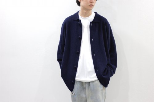 <img class='new_mark_img1' src='https://img.shop-pro.jp/img/new/icons2.gif' style='border:none;display:inline;margin:0px;padding:0px;width:auto;' />Blanc YM / Wool Cashmere Knit JKT(NAVY)