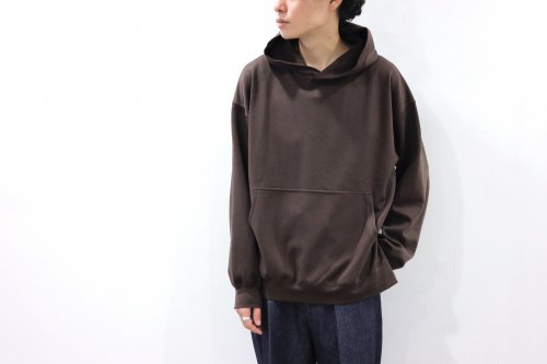 <img class='new_mark_img1' src='https://img.shop-pro.jp/img/new/icons2.gif' style='border:none;display:inline;margin:0px;padding:0px;width:auto;' />THEE / Wool mix ponte hoodie.(BROWN)