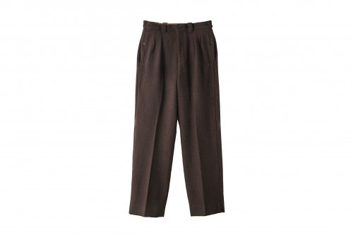 <img class='new_mark_img1' src='https://img.shop-pro.jp/img/new/icons47.gif' style='border:none;display:inline;margin:0px;padding:0px;width:auto;' />YOKE / 2TUCK GURKHA WIDE TROUSERS(BROWN)