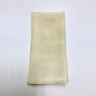 絹糸屋さんの『おそとで育った蚕の力。』野蚕生糸のシルク浴用ボディタオル|〜フィラメントシルク・生糸〜|きなり黄金(ゴールデンイエロー)