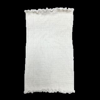 【再入荷】絹糸屋さんの『ふわふわの誘惑。』白雲シルク腹巻|シングル丈35cm|〜極細番手けんぼうシルク・絹紡糸〜|きなり(アイボリー)