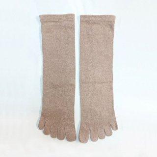 絹糸屋さんの『足指、いきいき。』シルクネップツイード五本指靴下|〜つむぎシルク・絹紬糸〜|エクリュ