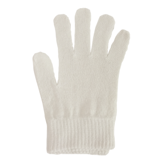 絹糸屋さんの『なんだか、ほっこり。』ふんわりシルク手袋|〜つむぎシルク・絹紬糸〜|きなり(アイボリー)