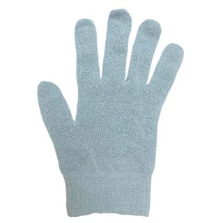絹糸屋さんの『なんだか、ほっこり。』ふんわりシルク手袋|〜つむぎシルク・絹紬糸〜|ブルー