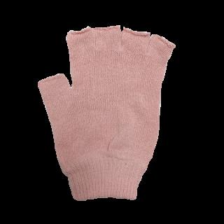 絹糸屋さんの『なんだか、ほっこり。』ふんわりシルク手袋|指あきタイプ|〜つむぎシルク・絹紬糸〜|ピンク