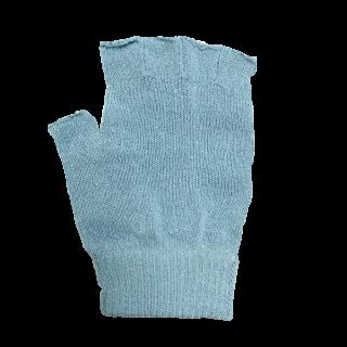 絹糸屋さんの『なんだか、ほっこり。』ふんわりシルク手袋|指あきタイプ|〜つむぎシルク・絹紬糸〜|ブルー