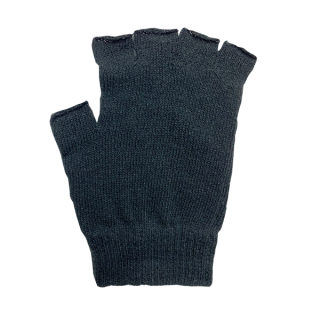 絹糸屋さんの『なんだか、ほっこり。』ふんわりシルク手袋|指あきタイプ|〜つむぎシルク・絹紬糸〜|ブラック
