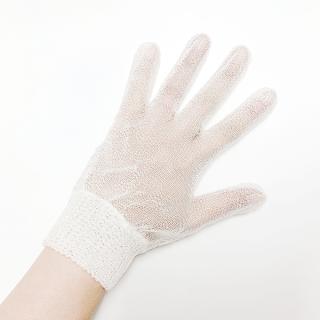 【手荒れ対策・ハンドケア】絹糸屋さんの『西陣未精練司』シルクセリシン手袋|未精練フィラメントシルク(特殊加工生糸)|未精練絹糸色