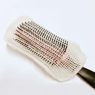 絹糸屋さんの『艶さらっ。』ヘアケア用シルクブラシカバー(2枚セット)|〜つむぎシルク・絹紬糸〜|きなり(アイボリー)