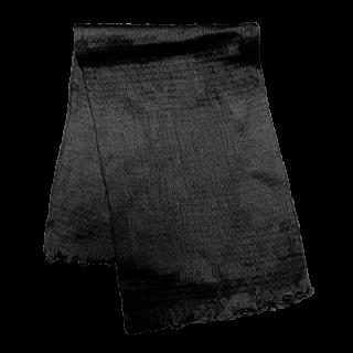 絹糸屋さんの『ふわふわの誘惑。』白雲シルク腹巻|ロング丈65cm|〜極細番手けんぼうシルク・絹紡糸〜|ブラック