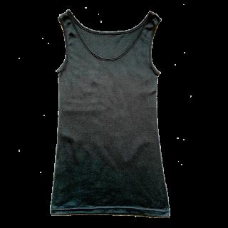 絹糸屋さんの『一軍、レギュラー。』シルクタンクトップ|〜極細番手けんぼうシルク・絹紡糸〜|ブラック