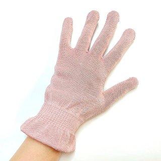 【再・再入荷!】新色♪絹糸屋さんの『朝がうれしい。』お休みシルク手袋|〜けんぼうシルク・絹紡糸〜|ピンク