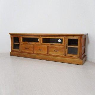 マホガニー 無垢 TV台 テレビ台 テレビボード ローボード AVボード W150cm ナチュラル