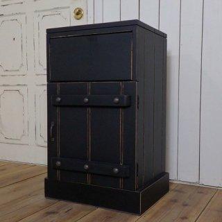 ハンドメイド ダストボックス 木製 ゴミ箱 リベット ブラック