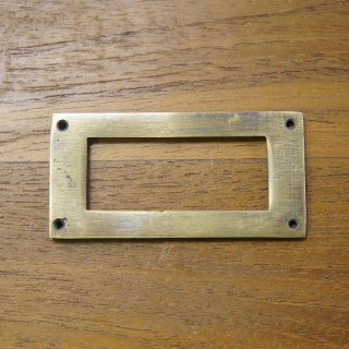 アンティーク調  ネームホルダー 真鍮製 フラット