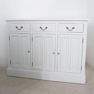 アンティーク調 カウンター 抽斗 引戸 収納棚 レジ台 ホワイト 店舗什器