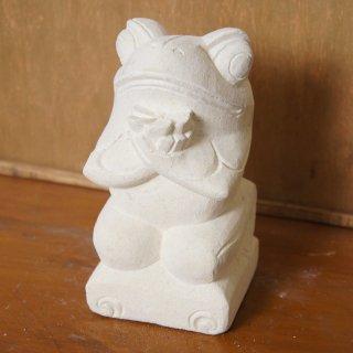 パラス石 石彫り バリ島 アジアン オブジェ 置物 カエル 15cm Type4