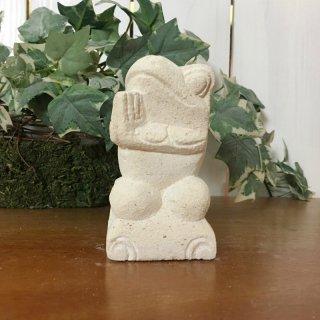 パラス石 石彫り バリ島 アジアン オブジェ 置物 カエル 10cm (お願い右向き)