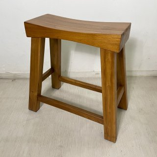 チーク無垢材 ウッドベンチスツール 作業椅子 ナチュラル