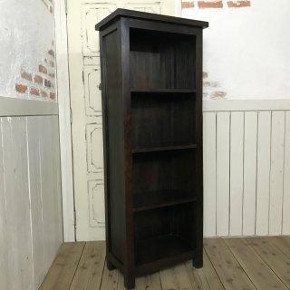 マホガニー無垢材 シェルフラック 収納棚 本棚 4段棚 ダーク