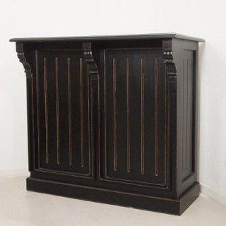 アンティーク調 マホガニー レジカウンター テーブル サイドボード レジ台 店舗什器 ブラック