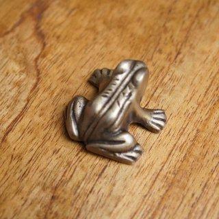 真鍮製 小さい カエルの置物 ペーパーウェイト