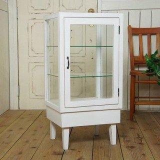 アンティーク調 5面ガラスケース パンケース ホワイト 飾り棚 ブレッドケース BREAD