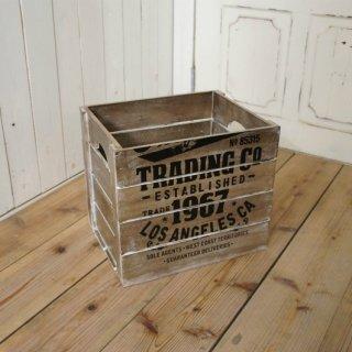 ビンテージ調 ウッドボックス 木箱 収納箱 ダメージ仕上 M