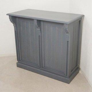 アンティーク調 マホガニー レジカウンター テーブル サイドボード レジ台 店舗什器 グレー