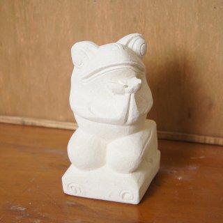 パラス石 石彫り バリ島 アジアン オブジェ 置物 カエル 15cm Type6