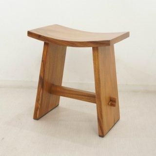 ウリン材 無垢 木製ベンチスツール Type1