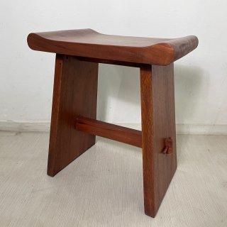 ウリン材 無垢 木製ベンチスツール Type2