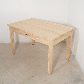 【送料無料】ミンディ無垢 引き出し2杯 木製 ダイニングテーブル 未塗装
