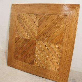 【送料無料】ミンディ無垢 木製 ヘリンボーン テーブルトップ 天板 カフェテーブル 70cm角