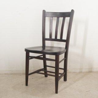 英国アンティーク調 チャーチチェア ボックスなし マホガニー教会 椅子  ダーク