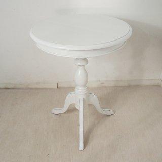 アンティーク調 マホガニー無垢 オーバル ティーテーブル ホワイト