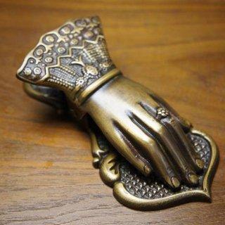アンティーク調 女性のハンド クリップ  真鍮製