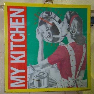 ヴィンテージ調 看板 オールド アメリカ メッセージボード MY KITCHEN