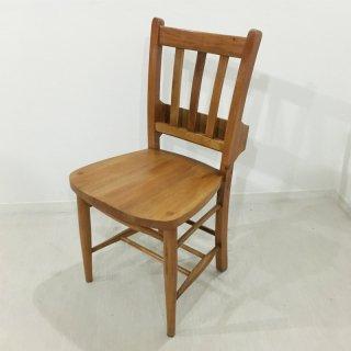 英国アンティーク調 チャーチチェア ボックス付 マホガニー教会 椅子