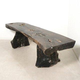 無垢 オールドチーク 一枚板ベンチ 長イス W157
