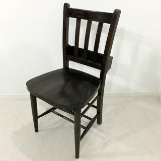 英国アンティーク調 チャーチチェア ボックス付 マホガニー ダーク 教会 椅子
