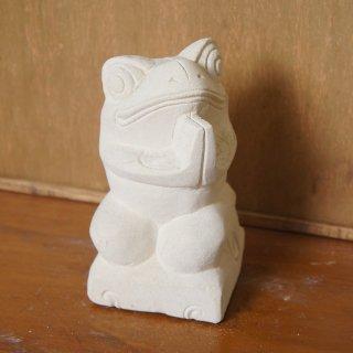 パラス石 石彫り バリ島 アジアン オブジェ 置物 カエル 15cm Type3