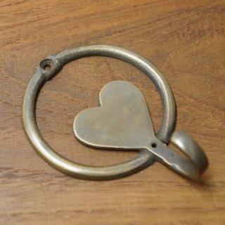 アンティーク調 ブラス 真鍮製 ハート型 フック 金具 掛金