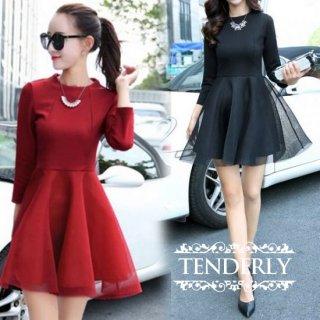 シースルースカートがフェアリーな雰囲気のキャバドレス