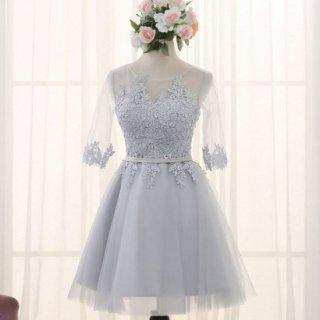 胸元レースが繊細で美しいキャバドレス