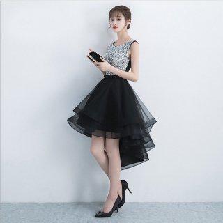 煌ビジュー×ボリューミーなチュールスカートがゴージャスなノースリーブドレス