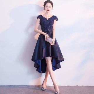 人気の海外デザイン シンプルエレガントなフィッシュテールのロングタイトドレス
