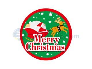 メリークリスマスC / シール通販・催事・イベント・販促シール